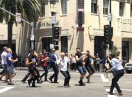 'Hollywood style' ceremony for new crosswalk