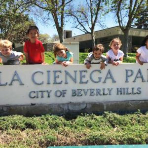 Community outreach that will be conducted over La Cienega Park improvements this fall. (photo courtesy of the city of Beverly Hills)