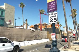 Construction on Metro's Purple Line Extension project has been making its way down Wilshire Boulevard for years. (photo by Luke Harold)