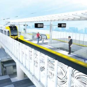 A rendering of a future Crenshaw/LAX Line station shows the future of what Metro anticipates will bea a crucial north/south mode of transportation throughout the county.