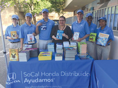 The SoCal Honda Dealer will be donating books to 50 schools in Los Angeles, Orange, Riverside, San Bernardino and Ventura counties. (photo courtesy of Remarq Inc.)