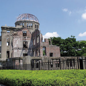 The Hiroshima Peace Memorial (Genbaku Dome) in Japan commemorates the atomic bombings of Hiroshima and Nagasaki. (photo courtesy of Jakub Halun)