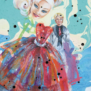 """Forty-four works by 23 artists will be on display as part of the """"Intersection"""" exhibit at KCCLA, including Holly Boruck's """"Is This Not Barbie and Ken?"""" (photo courtesy of LAUNCH LA/KCCLA)"""