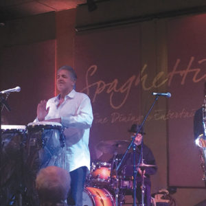 Come hear the Latin jazz of percussionist Louie Cruz Beltran on Friday. Stop by the Farmers Market Bars for a nice, cold draft beer. (photo courtesy of Louis Beltran)