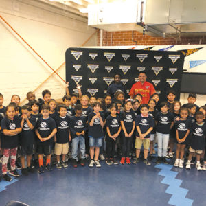 Last week, Armando Castro, who drives the truck El Toro Loco for Monster Jam, visited the Boys & Girls Club of Hollywood during a back to school vision screening event. (photo by Jennifer Becker for Monster Jam)