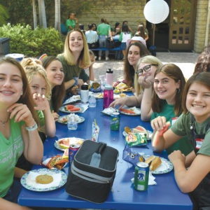 Members of the Immaculate Heart High School class of 2022 attended a freshman class orientation on Aug. 17 prior to the first day of classes on Monday. They learned about the Immaculate Heart High School experience and made new friends with classmates over lunch. (photo courtesy of Immaculate Heart)