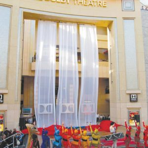 """Members of Cirque du Soleil's production """"Iris"""" helped unveil the newly named Dolby Theatre in 2012. (photo by Aaron Blevins)"""