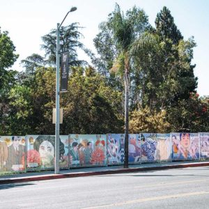 """The """"A Mecca of Bold, Retold"""" mural presents a timeline of the West Hollywood community through art. (photo by Tony Coelho)"""