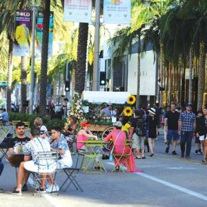 The city experienced an uptick in visitors during its first ever BOLD season last summer. (photo courtesy of the Beverly Hills Conference and Visitors Bureau)