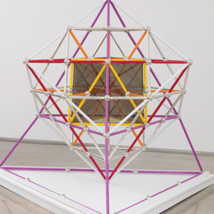 """R. Buckminster Fuller's creations, such as the """"Duo Tet Star Polyhedra,"""" function not only as models of their mathematical and geometric properties, but also as works of art. (photo courtesy of Edward Cella Art & Architecture)"""