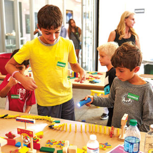 Children can enjoy fun playtime activities at the Hammer Museum. (photo by Tom Glynn)