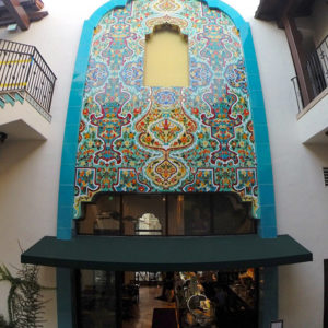 The motif for Urth Caffé in Pasadena, left, is Spanish Revival. (Photo courtesy of Cal Pot)