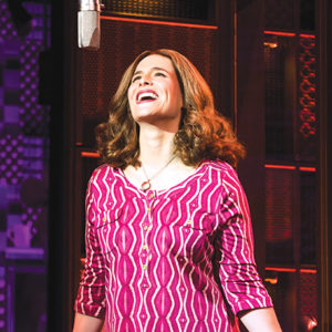 "photo by Matthew Murphy Sarah Bockel stars as singer-songwriter Carole King in ""Beautiful."" (photo by Matthew Murphy)"