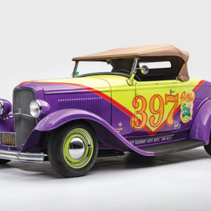 "The exhibition ""Auto-Didactic: The Juxtapoz School"" will feature a 1932 Ford Roadster named ""Prickly Heat"" by Robert Williams. (photo courtesy of the Petersen)"