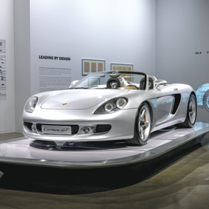"""The Porsche Effect"" exhibit is on display until April. (photo courtesy of the Petersen Automotive Museum)"