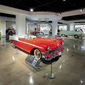 The third floor houses iconic cars from Los Angeles' automobile culture. (photo courtesy of the Petersen Automotive Museum)