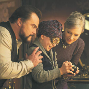 "Jack Black stars as Jonathan Barnavelt, Owen Vaccaro portrays Lewis Barnavelt and Cate Blanchett appears as Florence Zimmerman in ""The House with a Clock in Its Walls,"" opening on Sept. 21.  (photo courtesy of Universal Pictures)"