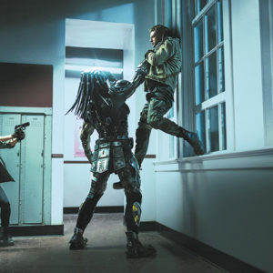 Boyd Holbrook, as Quinn McKenna, battles the Predator in the latest film in the series. (photo courtesy of 20th Century Fox)