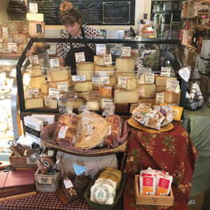 Paradise Pantry has a nice cheese selection at their adjacent market.