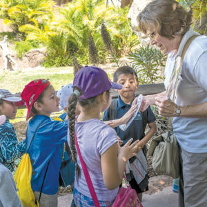 Docents support numerous programs at the zoo, many providing an opportunity to work with children. (photo by Jamie Pham)