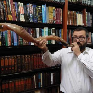 The shofar, the second oldest instrument known to man, is one of the symbols of Rosh Hashanah, the Jewish New Year, which signals the beginning of the Jewish High Holy Days. (photo by Edwin Folven)