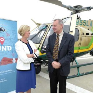 County Supervisor Janice Hahn joined Kirk Moody on Sept. 4 to announce the launch of the L.A. Found initiative. (photo by Henry Salazar)