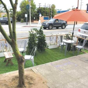 The Mid City West Community Council will observe Park(ing) Day on Sept. 21 at sites on Third Street and Melrose Avenue. The events encourage people to reconsider how parking spaces can be used. (photo courtesy of Mo Langer)