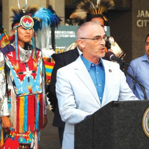 Councilman Mitch O'Farrell, 13th District, introduced a motion in 2015 that led to the City Council adopting Indigenous Peoples Day. (photo by Luke Harold)