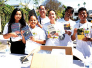 Volunteers sort books as part of Big Sunday donation