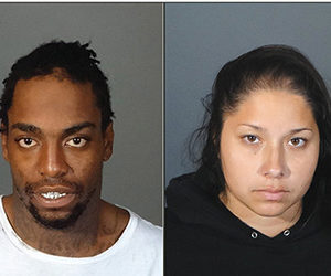 Joseph McWoodson and Desiree Hernandez are facing auto burglary charges for break-ins that allegedly occurred in West Hollywood. (photo courtesy of the LASD)