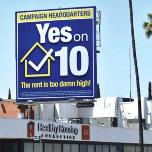 Yes on 10 signs have appeared throughout L.A. (photo courtesy of the AIDS Healthcare Foundation)