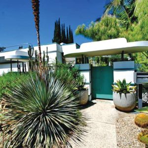 The Streamline Moderne building on 947 N. Martel Ave. was briefly owned by the Academy Award-winning actor Wallace Beery and was designed by William Kesling. (photo by Michael Locke, courtesy of the Cultural Heritage Commission)