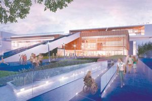 West Hollywood Park, currently under renovation, will receive security updates, including key card access points and design changes to the aquatics center to provide better visibility for staff. (rendering courtesy of the city of West Hollywood)
