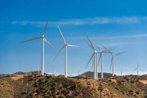 LADWP's Pine Tree Wind Farm in the Tehachapi Mountains has been part of the push for more renewable energy. (photo courtesy of Allan Der)