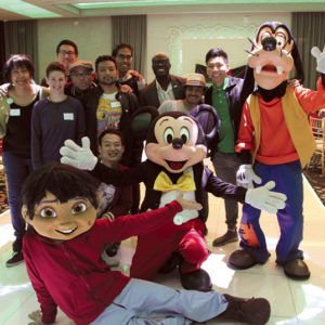 LGBT youth and their allies recently enjoyed a pre-Thanksgiving dinner and party featuring Disney characters. (photo by Owen Swaby for LTMFTv)