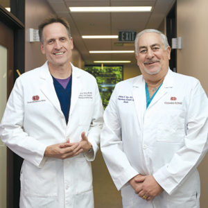 Liver surgeons Dr. Nicholas Nissen and Dr. Andrew Klein lead a medical team dedicated to improving the outcomes of organ transplant patients at Cedars-Sinai Medical Center. (photo courtesy of Cedars-Sinai Medical Center)