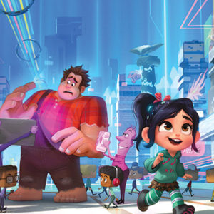 "Video-game bad guy Ralph and Vanellope von Schweetz return in ""Ralph Breaks the Internet"" to save the arcade game ""Sugar Rush.""  (photo © 2018 Disney)"