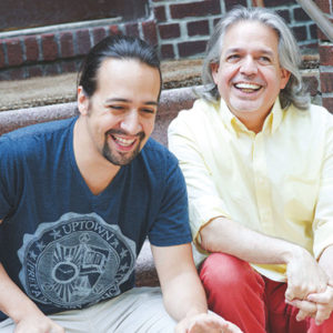 Lin-Manuel Miranda and his father, Luis A. Miranda Jr., will discuss their work on relief efforts in Puerto Rico at the Geffen Playhouse. (photo by Monica Simoes)