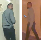 A doorbell security camera captured images of the suspect who allegedly burglarized a Hollywood Hills apartment while the resident was home. (photo courtesy of the LAPD)