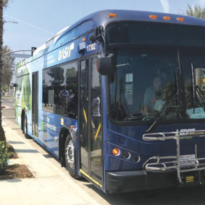 The LADOT is adding hours and new weekend service options on its DASH fleet of buses. (photo courtesy of LADOT Transit)
