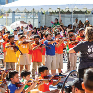 Youth Orchestra Los Angeles at Camino Nuevo Charter Academy will serve students in the Westlake and MacArthur Park area of Los Angeles and will be home to the first in-school YOLA model. (photo by Paul Cressey)