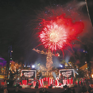 Enjoy holiday festvities at The Grove during its annual Christmas tree lighting and star-studded show on Nov. 18. (photo courtesy of Caruso)