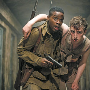 "Jovan Adepo (left) portrays Boyce and Dominic Applewhite appears as Rosenfeld in ""Overlord,"" a sci-fi-horror film by producer J.J. Abrams set during World War II. (photo courtesy of Paramount Pictures)"