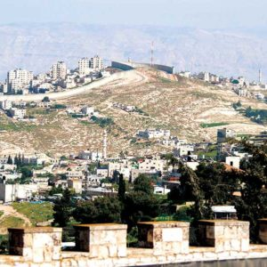 Israeli settlements on the West Bank, such as the ones pictured, have been a contentious issue in the longstanding Israeli-Palestinian conflict. (photo courtesy of the office of the chairman of the Joint Chiefs of Staff)