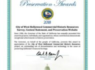 WeHo receives historic preservation award