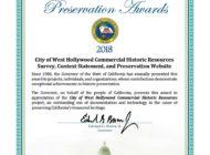 WeHo receives historic preservation award