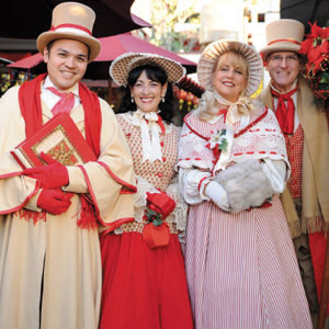 The Dickensian Carolers will stroll the market entertaining guests during the holiday season. (photo courtesy of the Original Farmers Market)