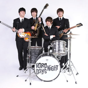 The Beatles tribute band Hard Day's Night plays the classic songs of George, Paul, Ringo and John. (photo courtesy of the Tournament of Roses)
