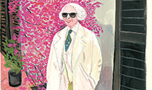 In a new show, illustrator-author Maira Kalman and curator-artist Alex Kalman explore the life and legacy of their mother and grandmother, respectively, who after 38 years of marriage, moved to New York City by herself and established new rituals, including wearing only white. (photo courtesy of EJS Media)