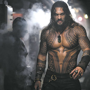 Jason Momoa stars as Aquaman in a new undersea superhero adventure. (photo courtesy of Warner Bros. Pictures)